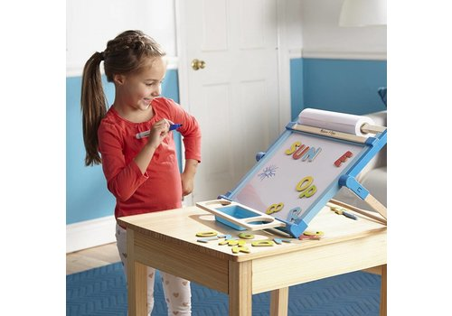 Melissa & Doug Chevalet de table en bois double face - Wooden Double Sided Tabletop