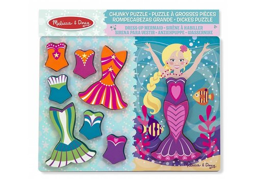 Melissa & Doug Mermaid Dress-Up Chunky Puzzle