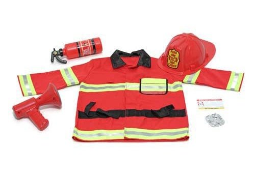 Melissa & Doug Fireman chief role play set