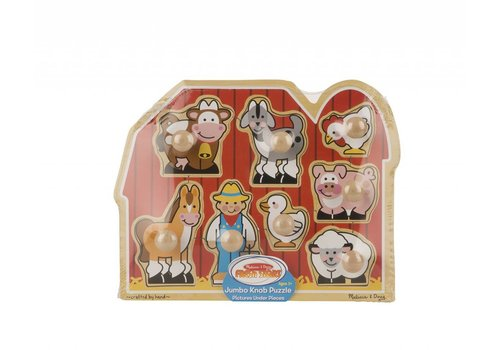 Melissa & Doug Farm Friends Large Peg Puzzle
