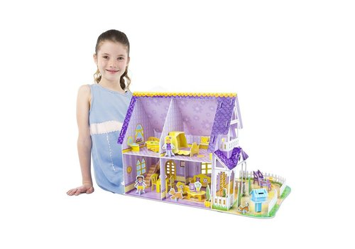 Melissa & Doug Pretty Purple Dolhouse 3D Puzzle