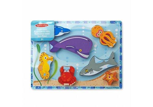 Melissa & Doug Sea Creatures Chunky Puzzle