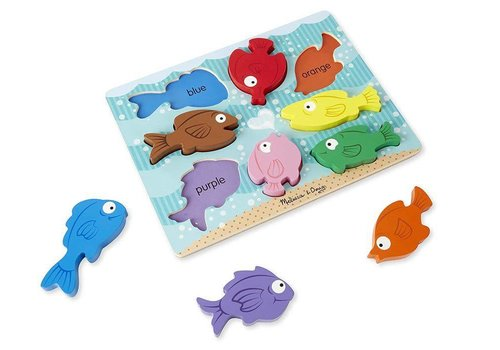 Melissa & Doug Wooden Chunky Puzzle - Colourful fish
