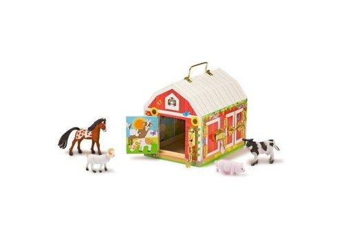 Melissa & Doug Grange à loquets avec animaux