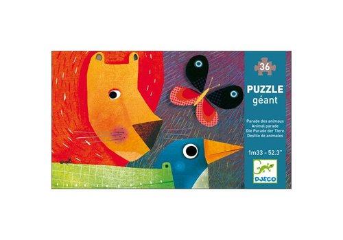 Djeco Puzzle Geant Parade des animaux / 36 pcs