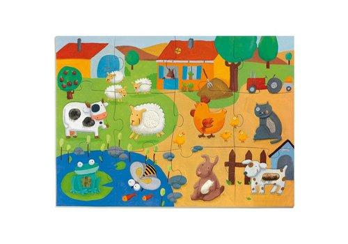 Djeco Puzzle Geant Tactiloferme