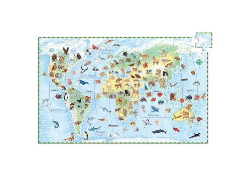 Djeco Puzzle observation Animaux du monde / 100 pcs