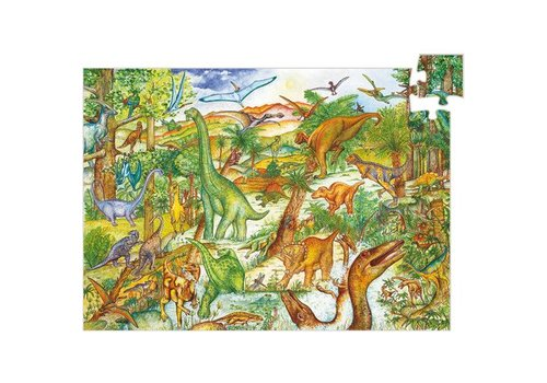 Djeco Puzzle observation Dinosaures / 100pcs