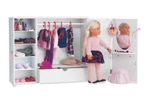 Our generation Armoire en bois pour poupée OG