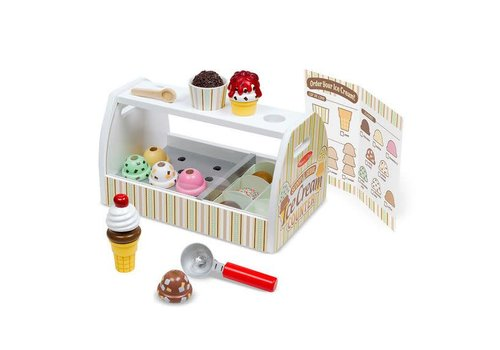 Melissa & Doug Comptoir a  crème glacée - Scoop & Serve Ice Cream Counter