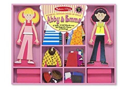 Melissa & Doug Poupées à vêtements magnétiques - Magnetic dress-up dolls