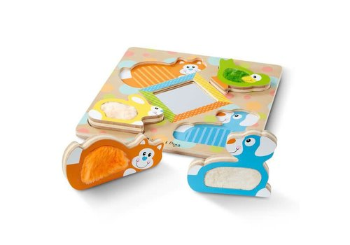 Melissa & Doug Peek-a-book Touch & Feel Pets Puzzle