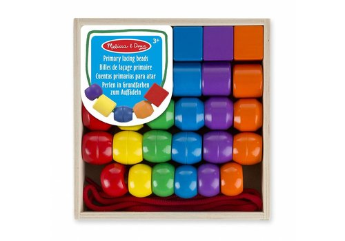 Melissa & Doug Billes de lacage - Primary Lacing Beads