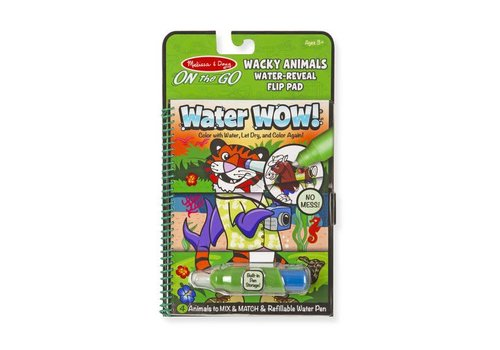 Melissa & Doug Water Wow ! Wacky Animals Flip Pad