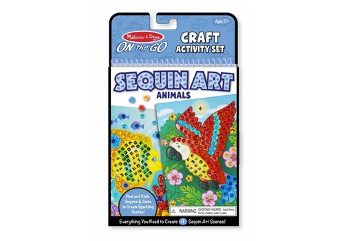Melissa & Doug Sequin animaux - Sequin Scenes Activity Set- Animals