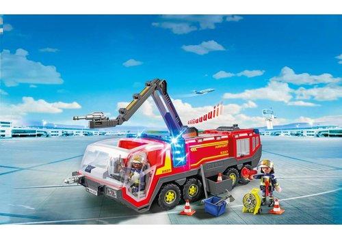 Playmobil Camion de pompiers avec son et lumieres de l'aeroport