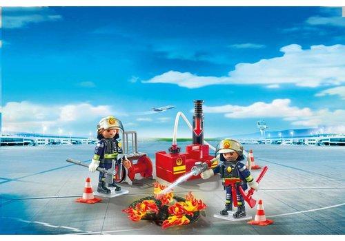 Playmobil Opération de lutte de l'incendie avec pompe à eau