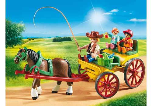 Playmobil Calèche avec attelage