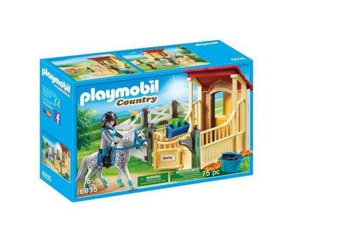 Playmobil Box avec cavalière et cheval Appaloosa