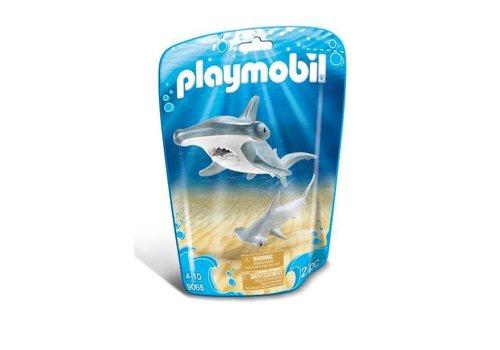 Playmobil Requin - marteau et son petit