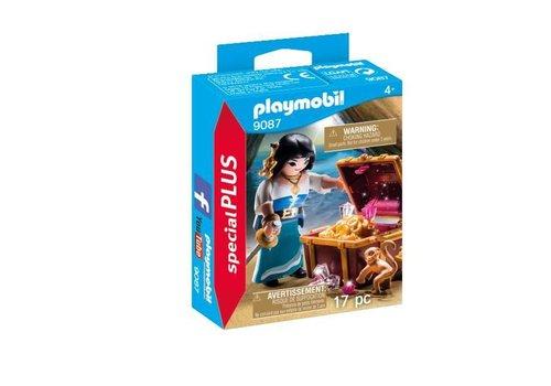 Playmobil Flibustière avec trésor