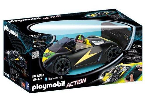 Playmobil Voiture de course noire radiocommandée