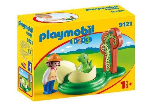 Playmobil Exploratrice et bébé dinosaure*