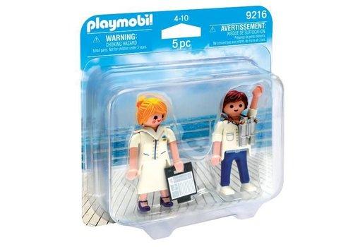 Playmobil Duo Hôte et hôtesse de croisière