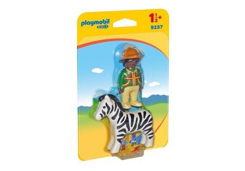 Playmobil Soigneur avec zèbre
