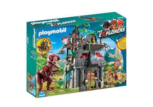 Playmobil Campement des explrateurs avec tyrannosaure