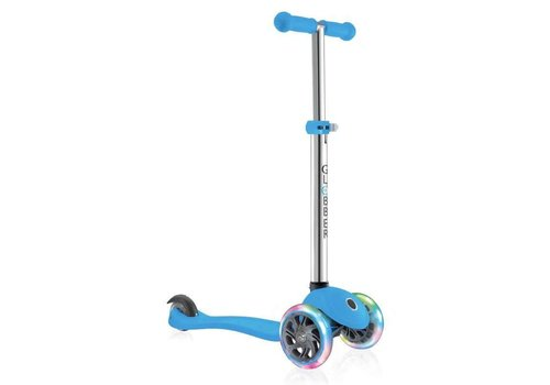 Globber Globber Primo Plus with Lights - Sky Blue