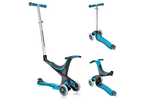 Globber Evo 4 in 1 Plus Scooter - Light blue