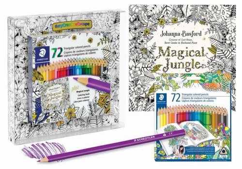 Crayons de couleur triangulaires 72# livre