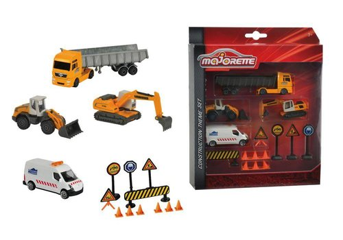Majorette Ensemble Camion Construction
