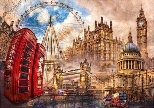 Clementoni Casse-tête - Londres d'autrefois - 1500 morceaux