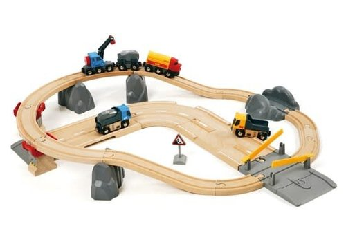 Brio Circuit rail route transport de roches