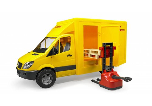 Bruder MB Sprinter DHL Truck With Manually Operated Pallet