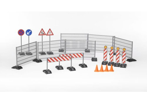 Bruder Construction Set : Railings Site Signs and Pylons