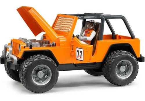 Bruder Jeep Cross Country racer orange avec conducteur