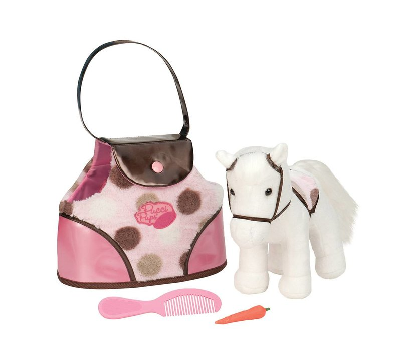 Pucci Pup Poney et sac de transport à  pois