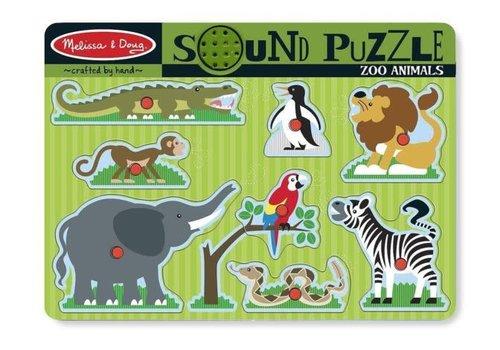 Melissa & Doug Zoo Animals - Casse-tête à encastrement sonore, les animaux du zoo