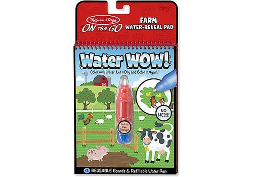 Melissa & Doug Révélation de dessins à l'eau, ferme- Water Wow ! On the farm