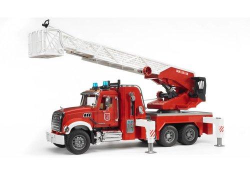 Bruder Camion de pompier avec pompe MACK Granite