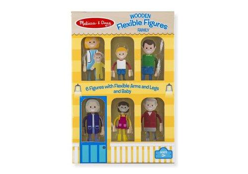 Melissa & Doug Figurines flexibles en bois avec famille