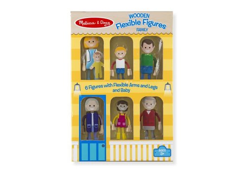 Melissa & Doug Wooden Flexible Figures- Family