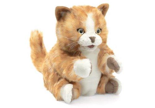 folkmanis Marionnette chat orange - Cat, Orange Tabby Kitten 8''
