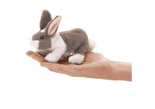 folkmanis Mini lapin blanc et gris