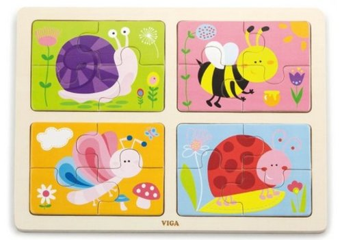 viga 4 in 1 puzzle in a tray insect