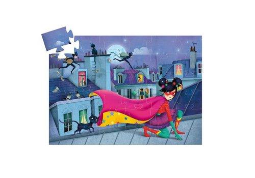 Djeco Puzzle silhouette / super star / 36 pcs