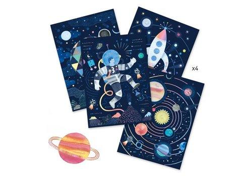 Djeco Cartes à gratter / Mission cosmique